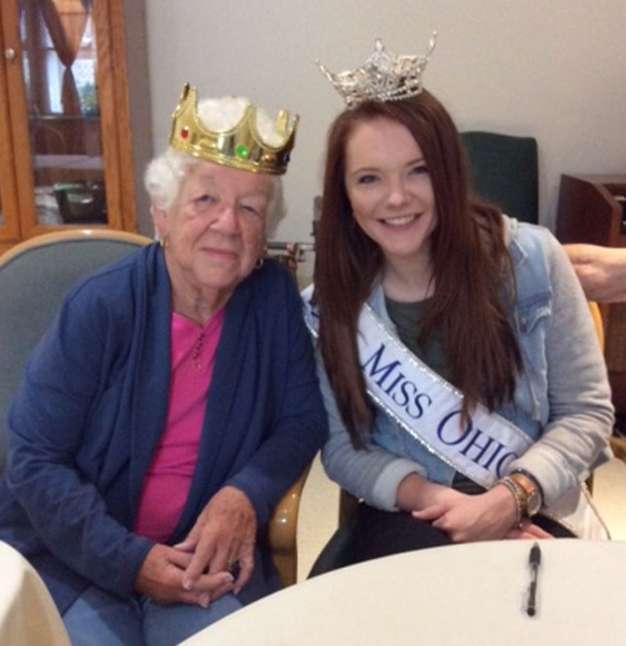 Liberty's Ageless Beauty Contest Winner Meets Miss Ohio