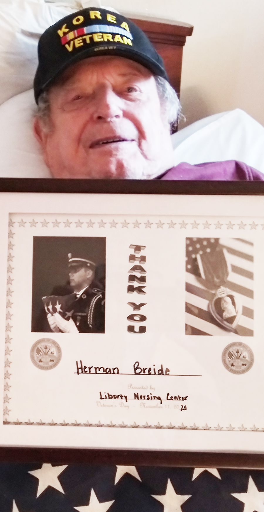 Honoring our Veteran Herman Briede on Veteran's Day