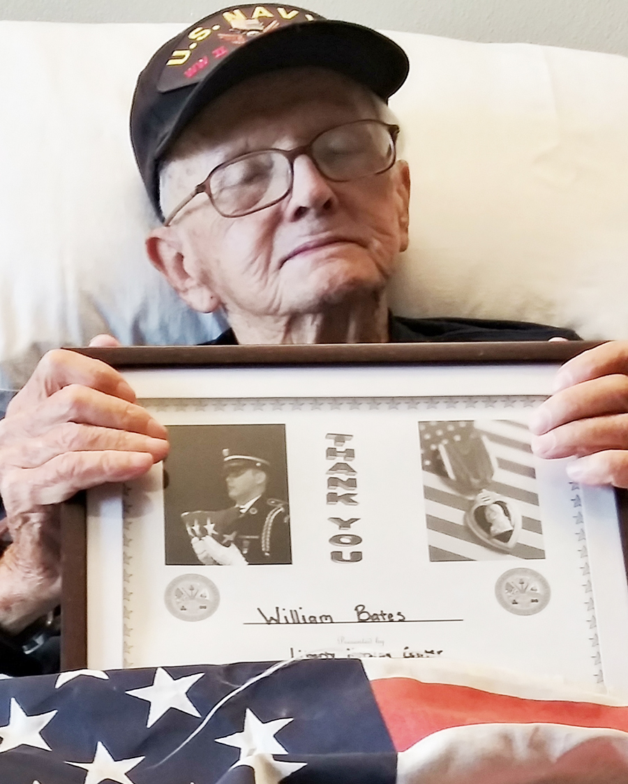 Honoring our Veteran William Bates on Veteran's Day